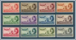 Egypt - 1947 - ( King Farouk, Delta Dam & DC-3 Plane ) - Complete Set -  MNH (**) - Poste Aérienne