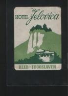 Hotel JELOVICA Bled Yugoslavia - Hotelaufkleber