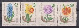 Hungary, Magyar Posta, 1963, Stamp Day, Flowers, 4 Strip, MNH, *** - Zonder Classificatie