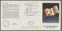 Argentina Volante N. 610 ANO INTERNACIONAL DE LA PAZ YEAR PEACE 1987 - NO Stamps - Markenheftchen