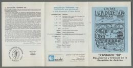 Argentina Volante N. 651 ESPAMER 90 CRONICAS DE LA CONQUISTA DE AMERICA 1989 - NO Stamps - Markenheftchen