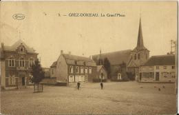 -GREZ-DOICEAU-La Grand' Place - 2 Personnages- Carte Brune- - Grez-Doiceau