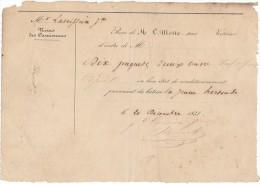 Cheval Transport Roulage Voiturier Lettre De Voiture 1838 Cuivre Bateau La Jeune Hortense - Transports
