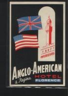 Hotel ANGLO - AMERICAN & REGINA Florence Italia - Hotelaufkleber