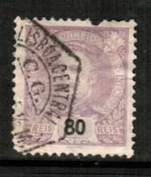 PORTUGAL    Scott  # 123  VF USED FAULTS - 1892-1898 : D.Carlos I