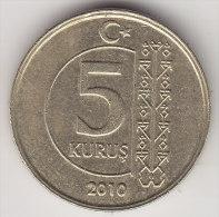 @Y@    Turkije   5  Kurus  2010      (2540) - Turkije