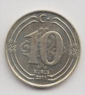 @Y@    Turkije   10  Kurus  2011      (2543) - Turkije