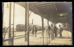 PLESS  Herzogtum Pleß   KAISER  POLOGNE   TRENO TRAIN   STAZIONE - STATION - GARE - MILITARE - REAL PHOTO     L90 - Gares - Avec Trains