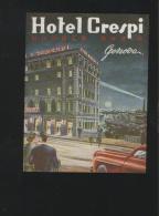 Hotel CRESPI Andrea Doria Genova Italia - Hotelaufkleber
