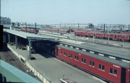 Railway Train Colour Slide Eissenbahn, Australia, Melbourne 10-1965  78 - Treni