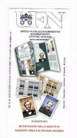 VATICANO 2013 - BOLLETTINO FILATELICO DA COLLEZIONE - VERDI E WAGNER -7 Novembre 2013 - Vaticano