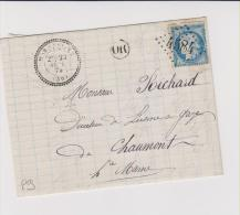 Haute-Marne - Cachet Perlé De MARANVILLE - Gros Chiffre 4584 - Marcophilie (Lettres)