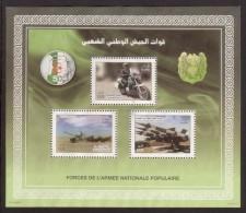 Algerije  2012 Mi Blok 24 Militair, Motor, Tank , Afweergeschut, Gestempeld - Algerije (1962-...)