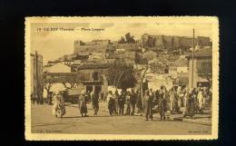 CPA   LE KEF (TUNISIE ) - Place Logerot - LA POSTE  / Vve Lebeau - Tunisia