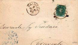 1890 LETTERA  CON ANNULLO PASIAN PALUZZA UDINE - 1878-00 Umberto I