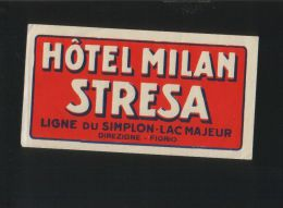 Hotel MILAN Stresa Itali - Hotelaufkleber