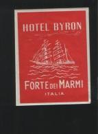 Hotel BYRON Forte Dei Marmi Itali - Hotelaufkleber