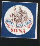 Hotel EXCELSIOR Siena Italia - Hotelaufkleber
