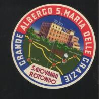 Grande Albergo S. MARIA DELLE GRAZIE San Giovanni Rotondo Italia - Hotelaufkleber