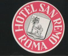 Hotel SANREMO Roma Italia - Hotelaufkleber