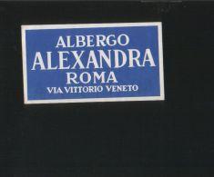 Albergo ALEXANDRIA Roma Italia - Hotelaufkleber