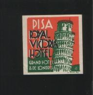 ROYAL VICTORIA Hotel Pisa Italia - Hotelaufkleber