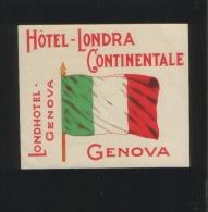 Hotel LONDRA CONTINENTALE Genova Italia - Hotelaufkleber