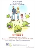Je Me Vaccine Tu Te Vaccines-MB - Publicité