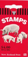 New Zealand 1995 Farmyard Animals - Pigs $4.50 Hang-Sell Mint Booklet - Booklets