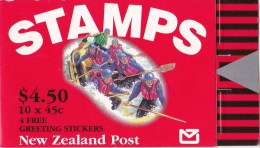 New Zealand 1994 Tourism - White Water Rafting $4.50 Mint Booklet - Carnets