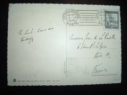 CP POUR LA FRANCE TP 25C OBL.MEC. 13 VI 1938 CITTA DEL VATICANO POSTE - Lettres & Documents