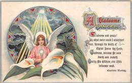 9327 A Gladsome Easte Angel Siting In Lillies - Easter