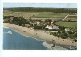 Saint Vincent Sur Jard : Vue Générale Aérienne La Plage N°417/79A Combier - Colorisée Dentelée - Autres Communes