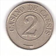 JETON - CASINO - CASSIS - 2 FRANCS - SLOT MACHINE. - Casino