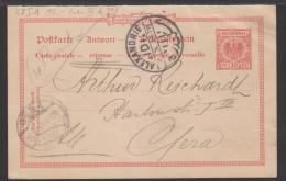 D.R,Nr.Ganzsache Von Alexandrie Nach Gera Mit Gebrauchsspuren (4260) - Allemagne