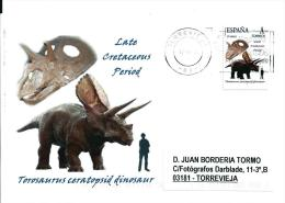 SPAIN*Torosaurus Ceratopsid Dinosaur/Perforated Lizard/Late Cretaceous Period/Dinosaurs/Dino/Tu Sello - Briefmarken