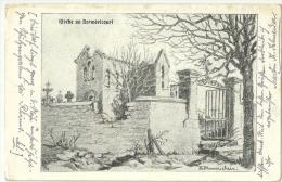 Wk1914 -(1 CPA ) Bermericourt / Kirche / Feldpost - Militaria
