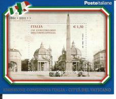 FOG036 - FOGLIETTO - ANNIVERSARIO UNITA´ D´ITALIA - EMISSIONE CONGIUNTA ITALIA 2011 - 2011-...: Ungebraucht