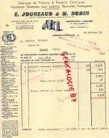 79 - ARGENTON L' EGLISE - BELLE FACTURE E. JOUNEAUD & M. BODIN- FABRIQUE PRESURE POUR LAITERIE - 1956 - 1950 - ...