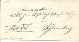 Bad042/  BADEN - Dürrheim, Einzeiler In Schwarz 1848, Doppelverwendung Ex Furtwangen (rot) - [1] ...-1849 Precursores