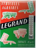 Plaque En Carton: Véhicules Agraires LEGRAND à FRUGES (P.-de-C.) Etablissements Marcel LEGRAND - Téléphone 110 - - Plaques En Carton