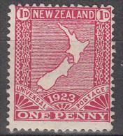 New Zealand   Scott No.  175  Unused Hinged  Year  1923 - 1907-1947 Dominion