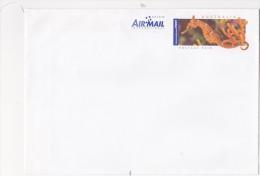 Entier Postal PAP Australie Hippocampe High Crown Seahorse Hippocampus Procerus Ego Guiotto Aerogramme Air Mail - Entiers Postaux