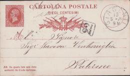 Entier Postal Italie, Cartolina Postale 10 Ct, Girgenti - Palermo (16579) - 1878-00 Umberto I