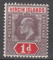 Virgin Islands   Scott No. 30  Unused Hinged   Year  1904 - British Virgin Islands