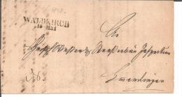 Bad059/  BADEN - Waldkirch, Zweizeiler In Schwarz, 1848 - Duitsland