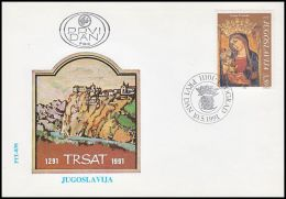 """Yugoslavia 1991, FDC Cover """"700 Years Of Trsat"""" - FDC"""
