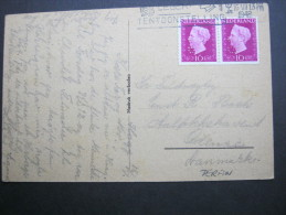 1948, Perfin , Firmenlochung Auf Karte  S. B. - Periode 1891-1948 (Wilhelmina)