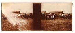 Photo Stereo Originale Militaria  WWI  Les Islettes Voitures D´Ambulance - Guerre, Militaire