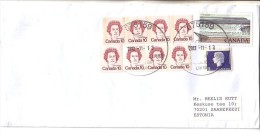 GOOD CANADA Postal Cover To ESTONIA 2013 - Good Stamped: Queen ; Fundy - Covers & Documents